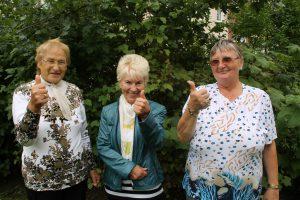 Die Seniorinnen sind begeistert vom guten Essen
